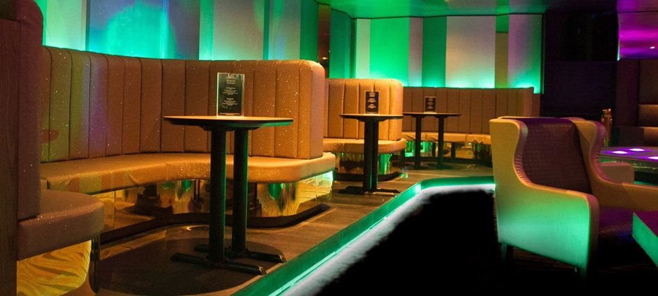 booths within the Cabaret Club